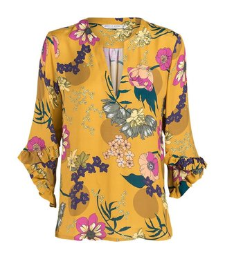 Summum 2s2160-10739 Top v-neck all over flower print