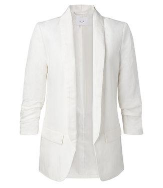 Yaya 150125-913 Linen Blazer with gathered sleeves