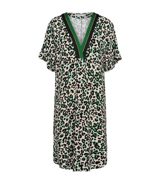 Summum 5s1035-10806 Dress v-neck animal print viscose