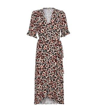 Summum 5s1036-10806 Dress ruffles animal print viscose