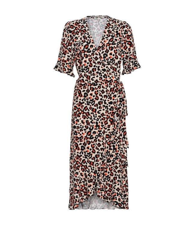 Summum Woman 5s1036-10806 Dress ruffles animal print viscose