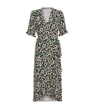 Summum 5s1036-10806 Dress ruffles animal print viscose.