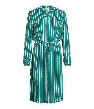 Vila 14051737 Vilnetta stripie l-s dress