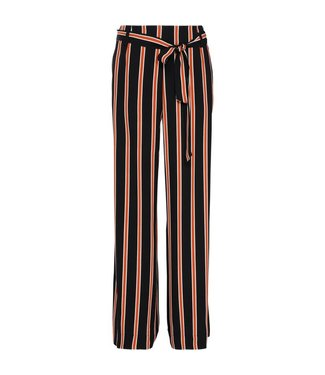 Summum 4s1676-10783 Trousers striped crepe viscose.