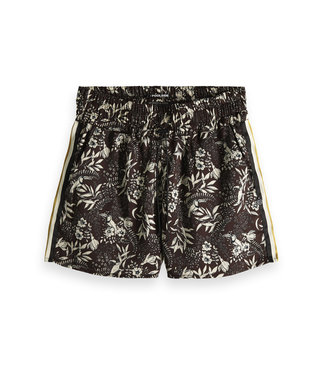 Maison Scotch 149981 Printed shorts with striped  side tape