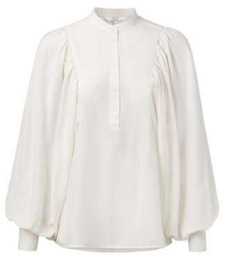 Yaya 110171-914 Blouse with high inserted puff sleeves