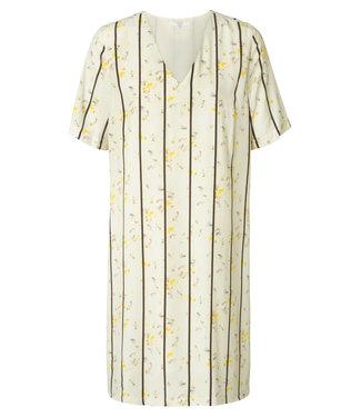 Yaya 1801107-914 straight dress with flower print and stripes