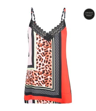 Summum 2s2251-10887 Summer / Top lace patchwork print