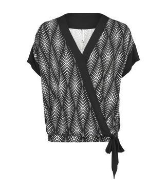 Summum 3s4274-30049 Summer / Top short sleeve diamand print