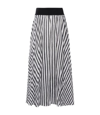 Summum 6s1090-10913 Skirt cotton voile stripe