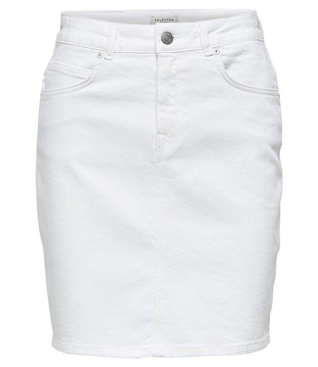 Selected Femme 16067831 Slfkenna hw witte denim skirt