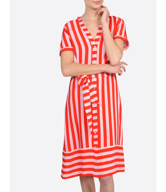 Summum 5s1058-10893 Summer / Dress striped crepe viscose