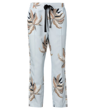 Yaya 120147-915 Printed jogging trousers with contrasting side taping