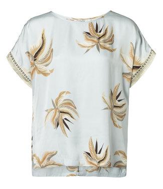 Yaya 1901145-915 Top with round neckline and flower print