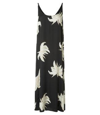 Yaya 1801118-915 Long strappy dress with jungle flower print