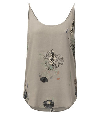 Yaya 1901151-915 Reversible strappy top with animal print