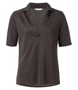 Yaya 191923-913 Shiny Jersey Polo Shirt