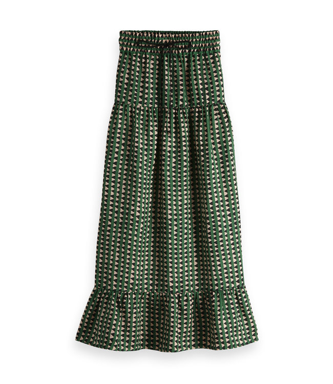 Maison Scotch 149930 Tiered printed maxi skirt