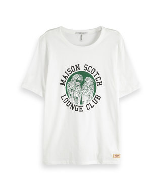 Maison Scotch 150191 Relaxed fit tee with various artworks