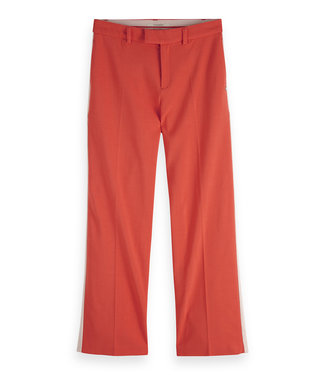 Maison Scotch 149884 Wide leg stretch pants with contrast binding