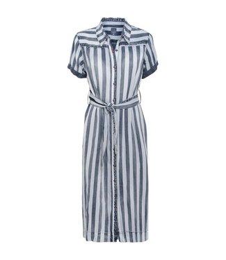 Summum 5s1041-10879 / Dress aop stripe tencel