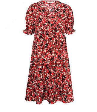 Summum 5s1112-11096 Tunic Red flower print
