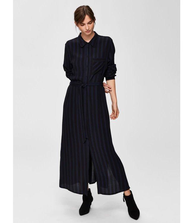Selected Femme 16069950 SLFFlorenta LS AOP ankle shirt Dress
