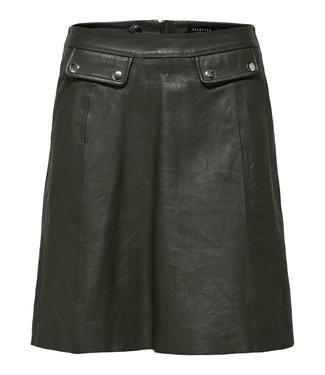 Selected Femme 16067934 slfmina hw leather skirt b