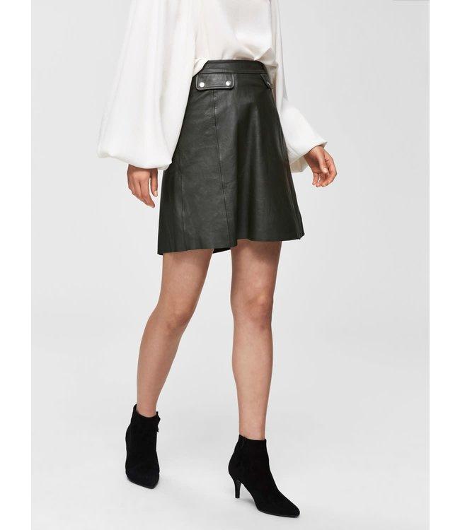 Selected Femme 16067934 slfmina hw leather skirt b