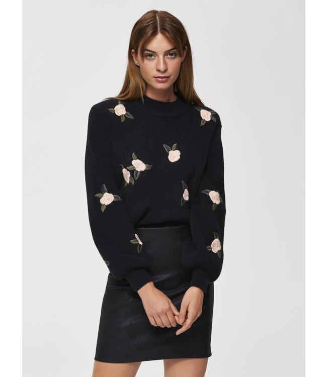 Selected Femme 16068506 slfemilia cropped knit o-neck