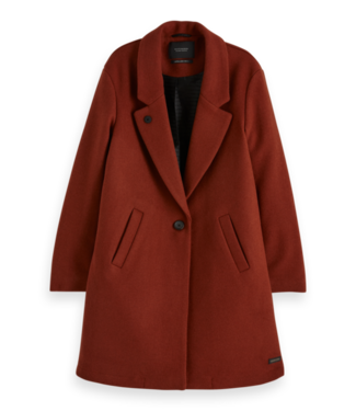 Maison Scotch 154308 Classic tailored coat with half lining