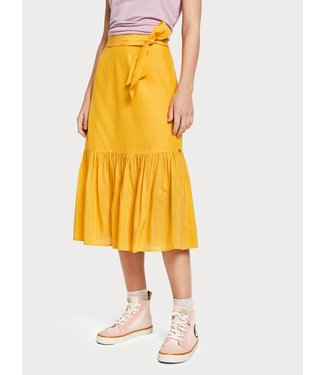 Maison Scotch 149933 Belted midi lenghth skirt