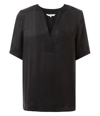 Yaya 1901188-921 Quilted V-neck T-shirt