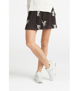 Yaya 140110-921 Pleated skirt with Japanese print