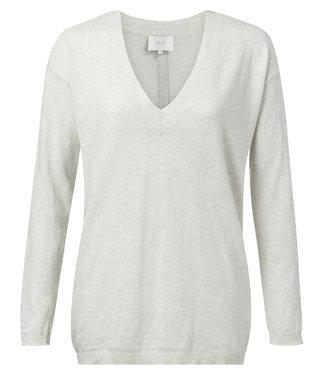 Yaya 1000112-921 Cotton V-neck sweater