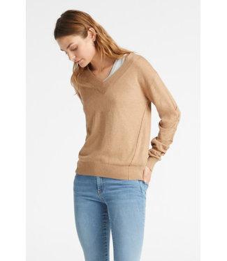 Yaya 1000177-921 Sweater with ruching sleeves