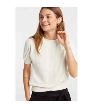 Yaya 1009168-921 Sweatshirt with short sleeves