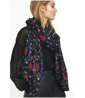 Alix the Label 195063341 ladies woven multi colour scarf