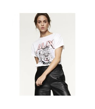 Alix 195892285 ladies knitted tiger T-shirt.