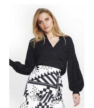 Alix 195938324 ladies woven dot chiffon blouse