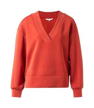 Yaya 100918-922 Boxy V-neck sweatshirt
