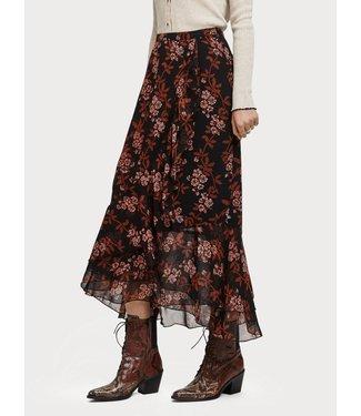 Maison Scotch 152581 Printed maxi skirt