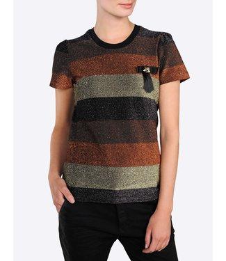Summum 3s4305-30086 Short sleeve lurex stripe