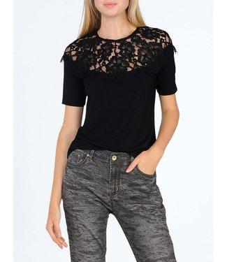 Summum 3s4327-30070 Short sleeve luxury basics with lace