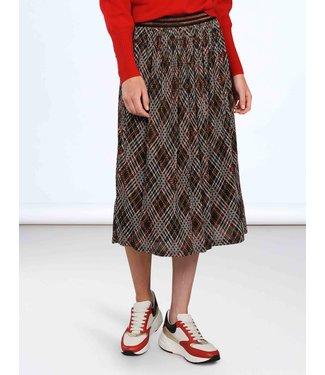 Summum 6s1109-30093 Skirt check print mesh