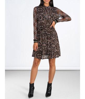 Summum 5s1081-30094 Dress leopard print mesh