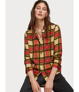 Maison Scotch 152461 Regular drapey fit shirt in allover