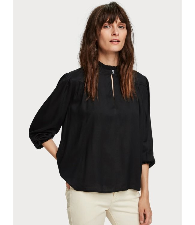 Maison Scotch 152493 Viscose top with western yoke