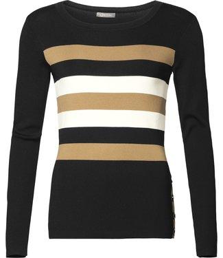 Geisha 94519-10 Pullover round neck with stripes