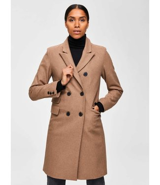 Selected Femme 16068115 SLFBINA WOOL COAT B CAMP